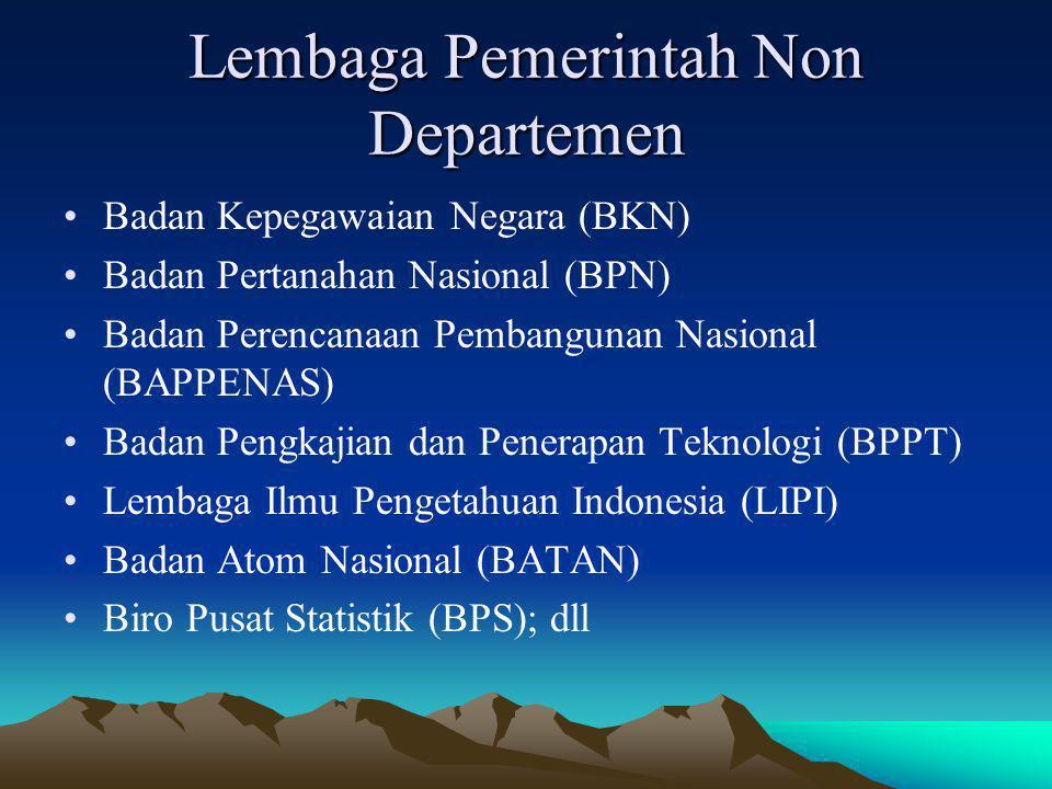 Lembaga Pemerintah Non Departemen