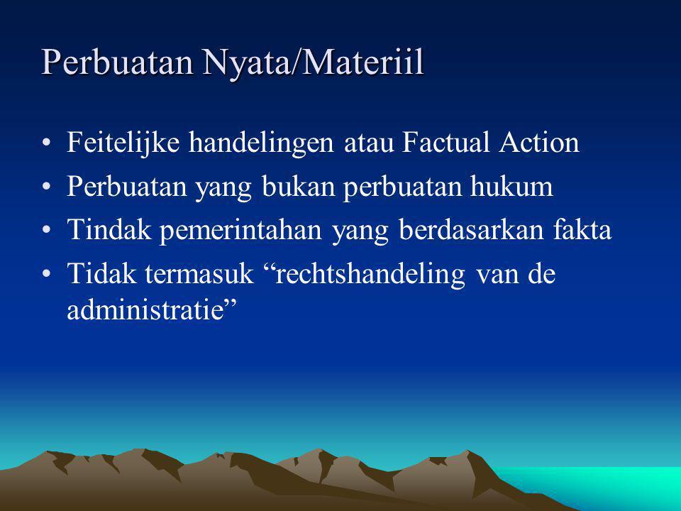 Perbuatan Nyata/Materiil