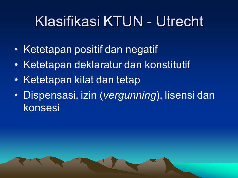 Klasifikasi KTUN - Utrecht