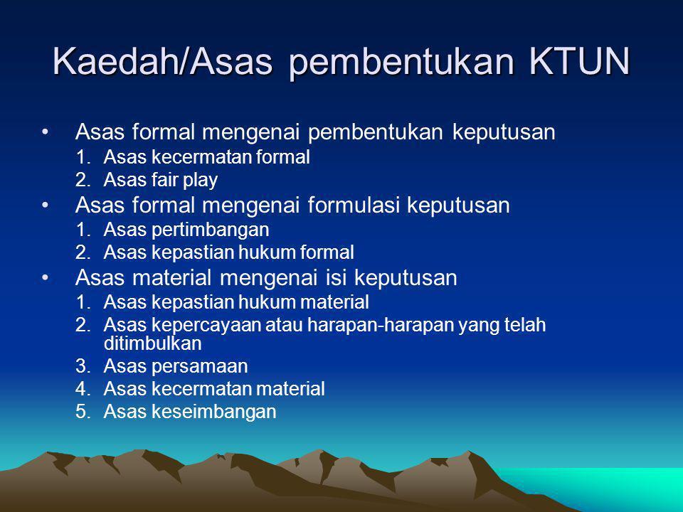 Kaedah/Asas pembentukan KTUN