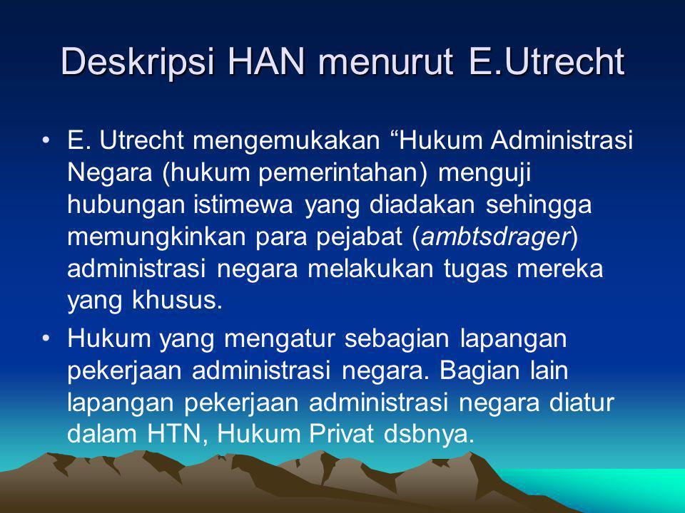 Deskripsi HAN menurut E.Utrecht