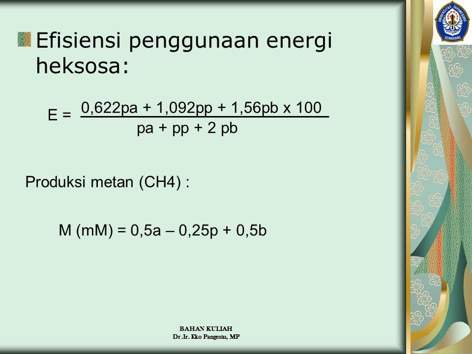 Efisiensi penggunaan energi heksosa: