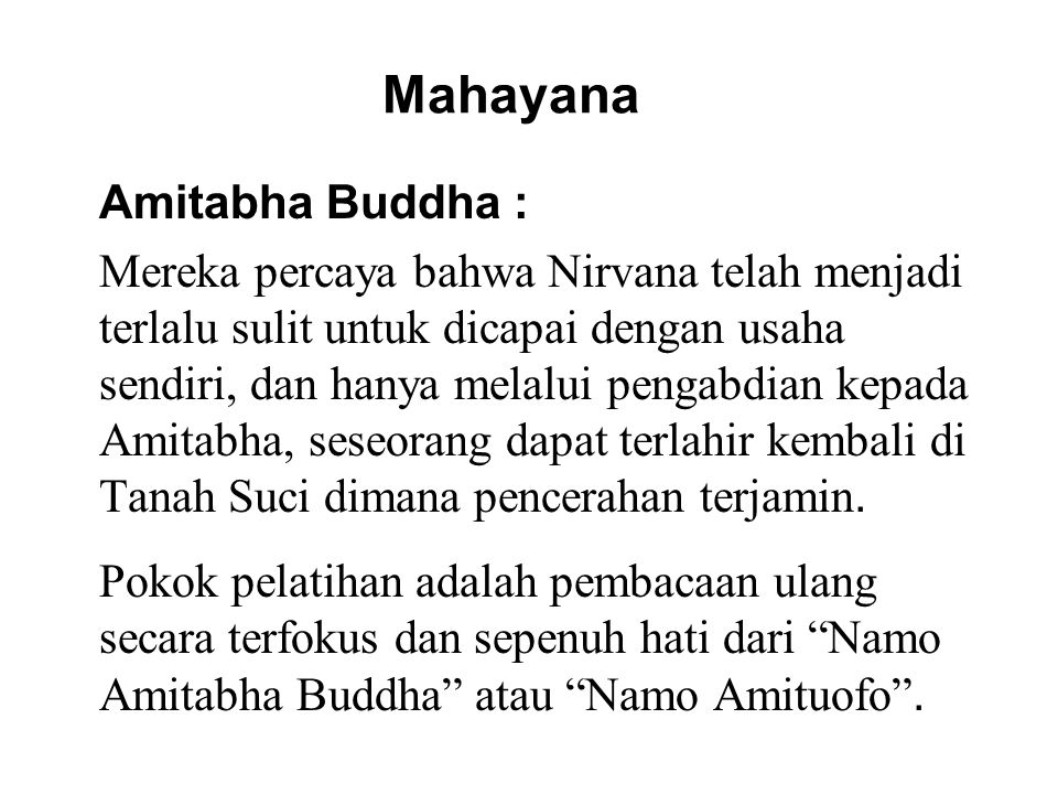 Mahayana Amitabha Buddha :