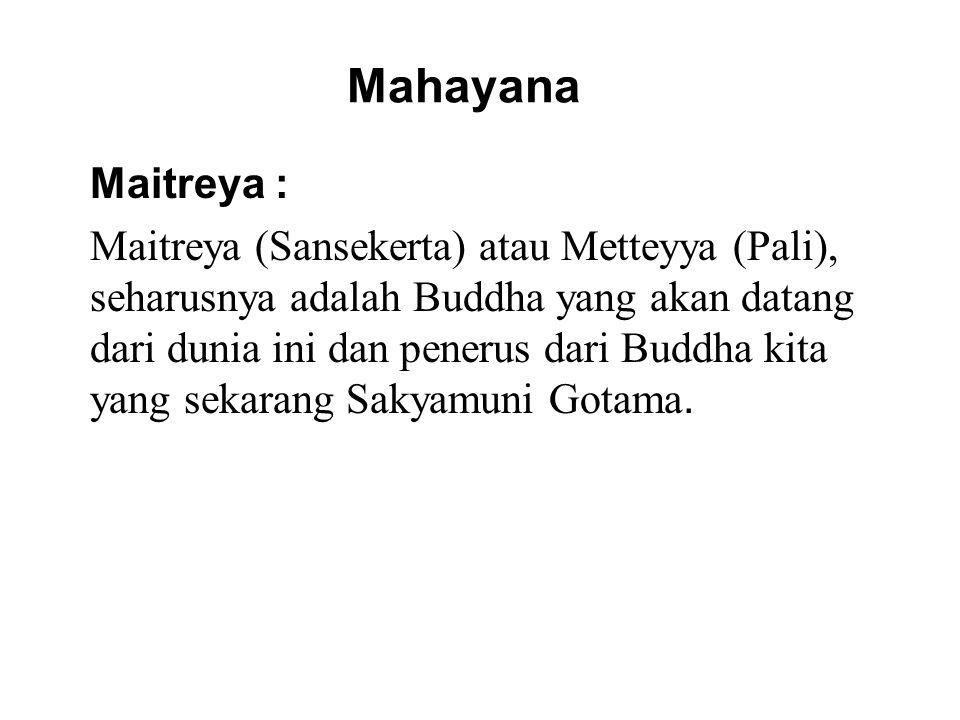 Mahayana Maitreya :