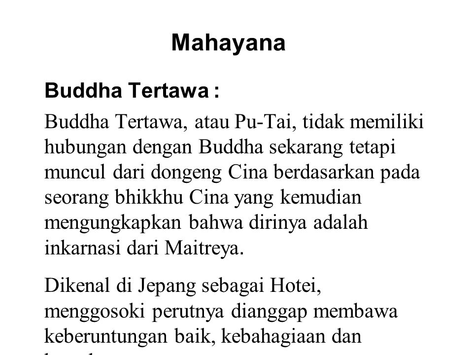 Mahayana Buddha Tertawa :