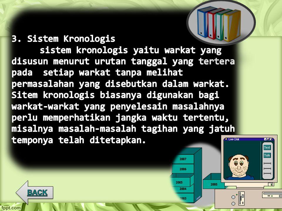 3. Sistem Kronologis