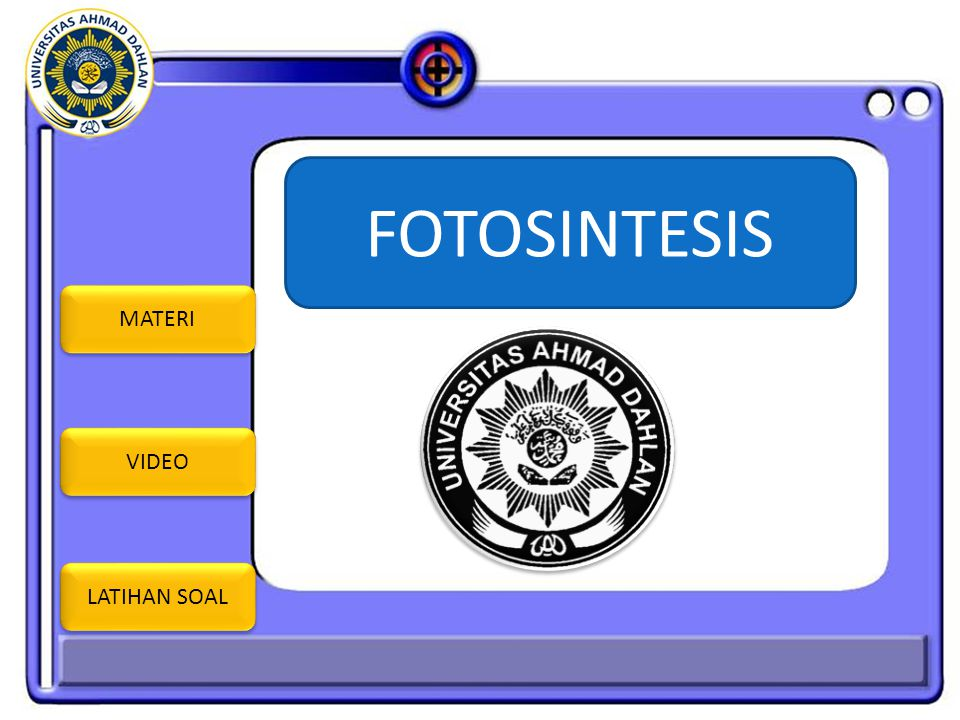 FOTOSINTESIS MATERI VIDEO LATIHAN SOAL