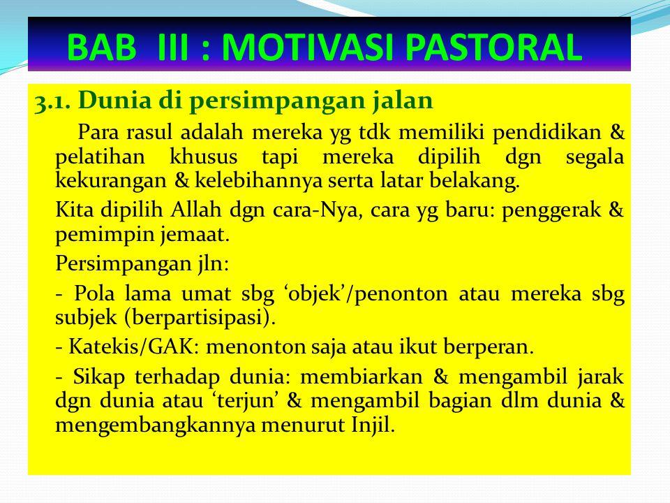 BAB III : MOTIVASI PASTORAL