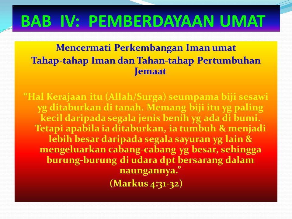 BAB IV: PEMBERDAYAAN UMAT
