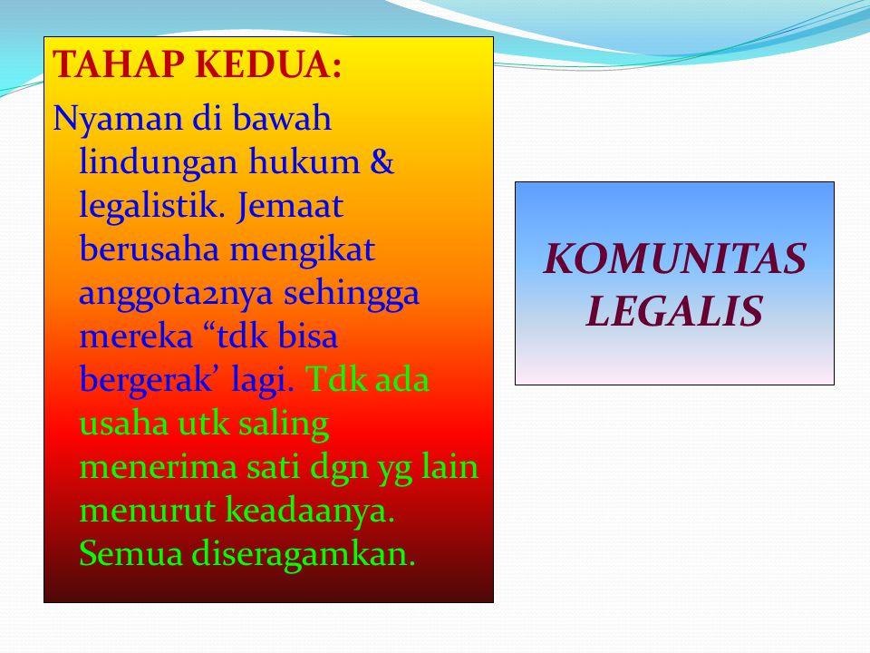 KOMUNITAS LEGALIS TAHAP KEDUA: