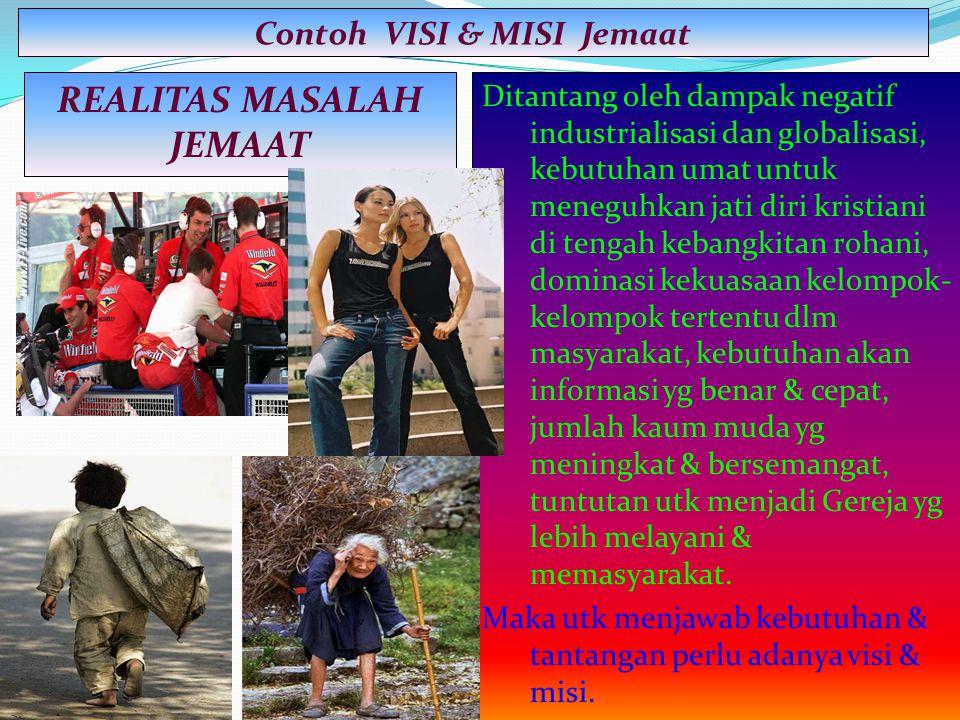 Contoh VISI & MISI Jemaat REALITAS MASALAH JEMAAT
