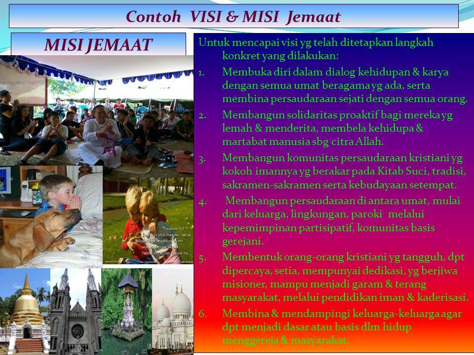 Contoh VISI & MISI Jemaat