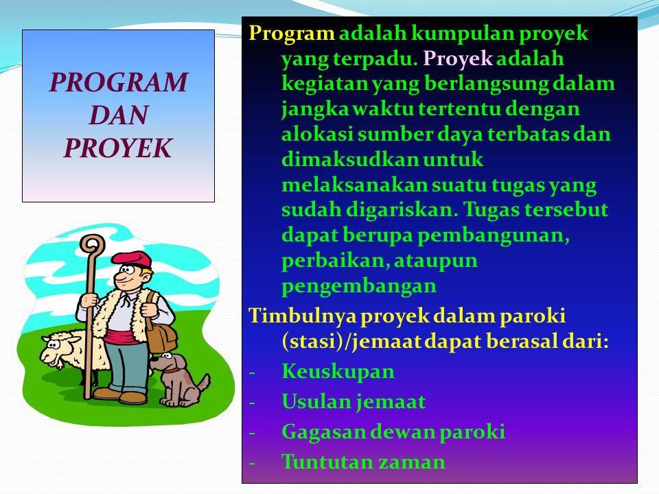 Program adalah kumpulan proyek yang terpadu