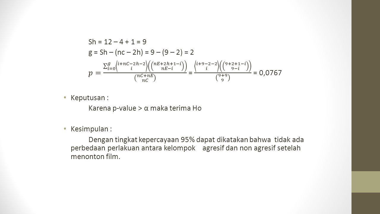 Sh = 12 – 4 + 1 = 9 g = Sh – (nc – 2h) = 9 – (9 – 2) = 2.