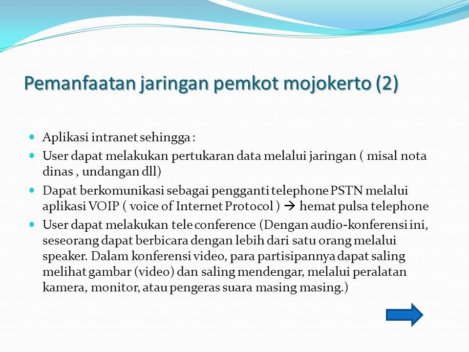 Pemanfaatan jaringan pemkot mojokerto (2)