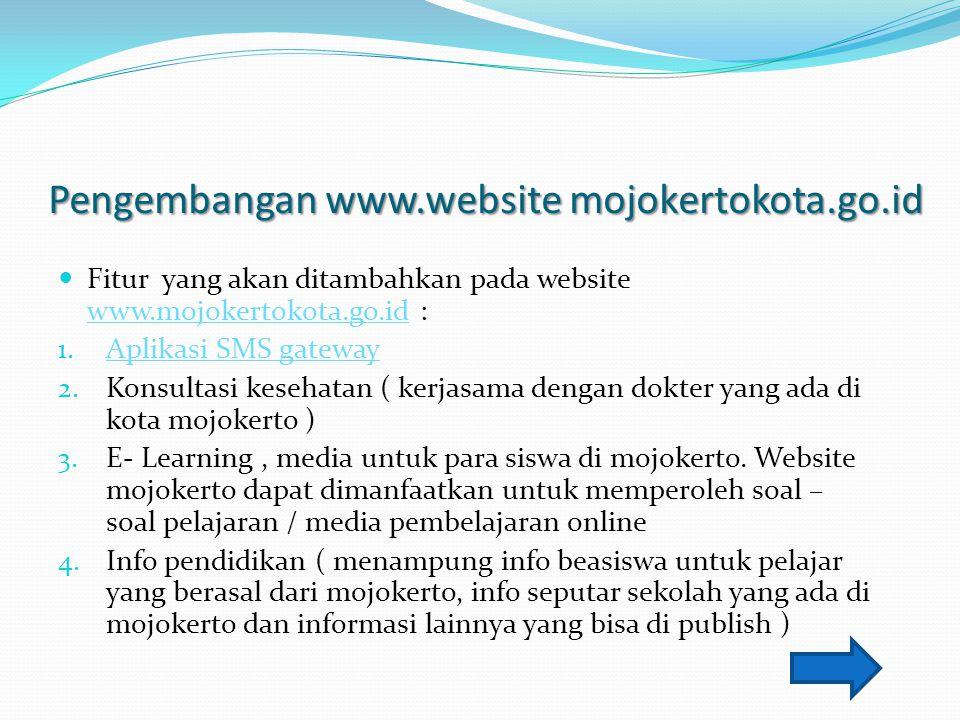 Pengembangan www.website mojokertokota.go.id