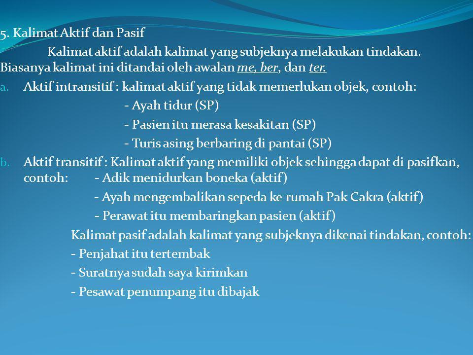 5. Kalimat Aktif dan Pasif