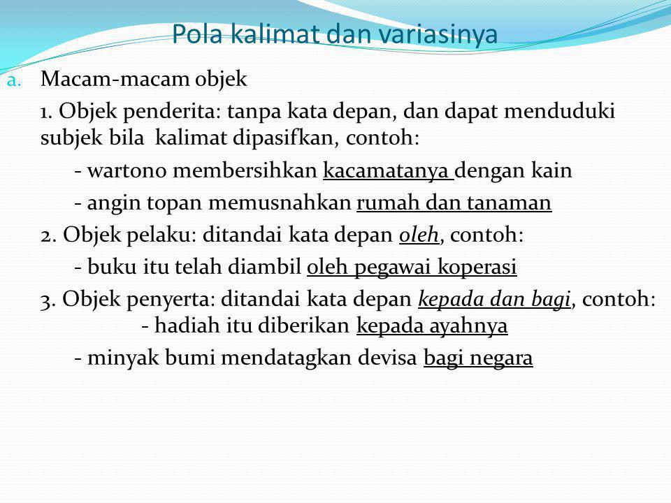 Pola kalimat dan variasinya