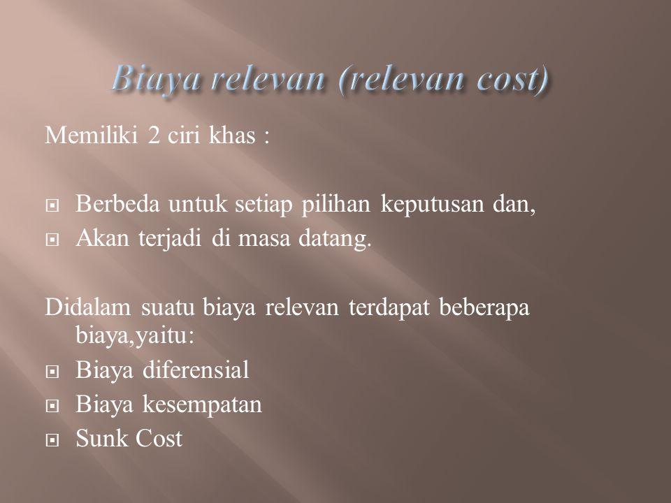 Biaya relevan (relevan cost)