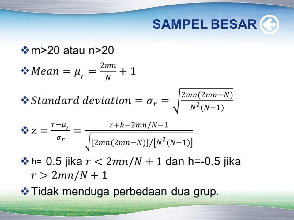 SAMPEL BESAR h=