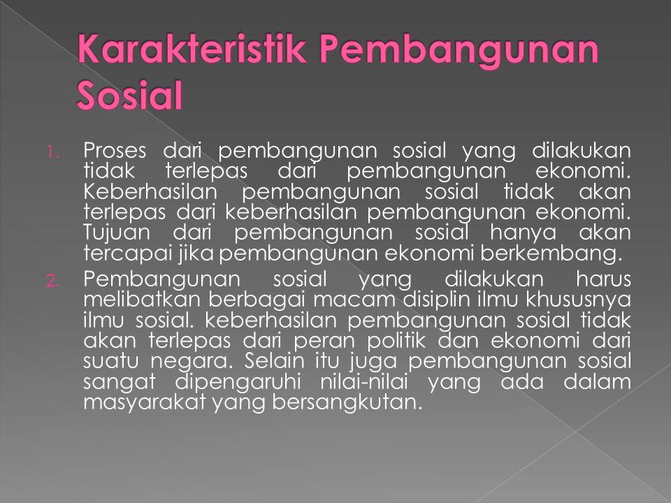 Karakteristik Pembangunan Sosial