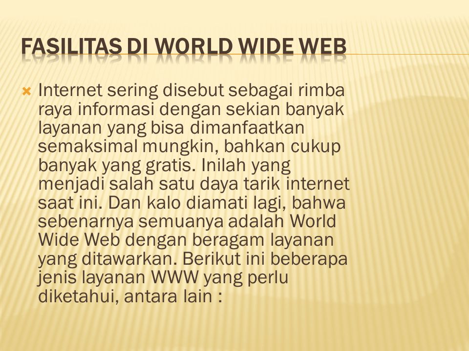 Fasilitas di World Wide Web