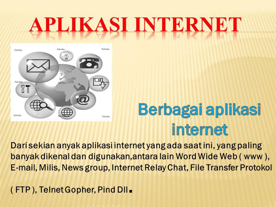 Berbagai aplikasi internet