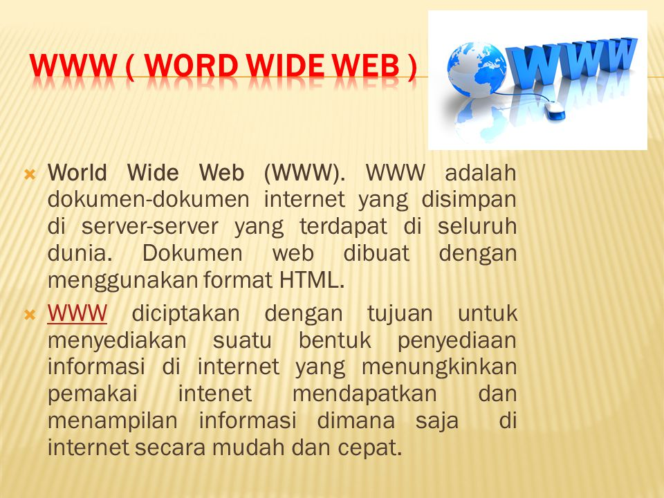 WWW ( Word Wide Web )