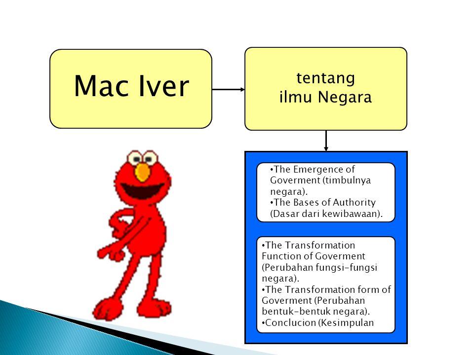 Mac Iver tentang ilmu Negara