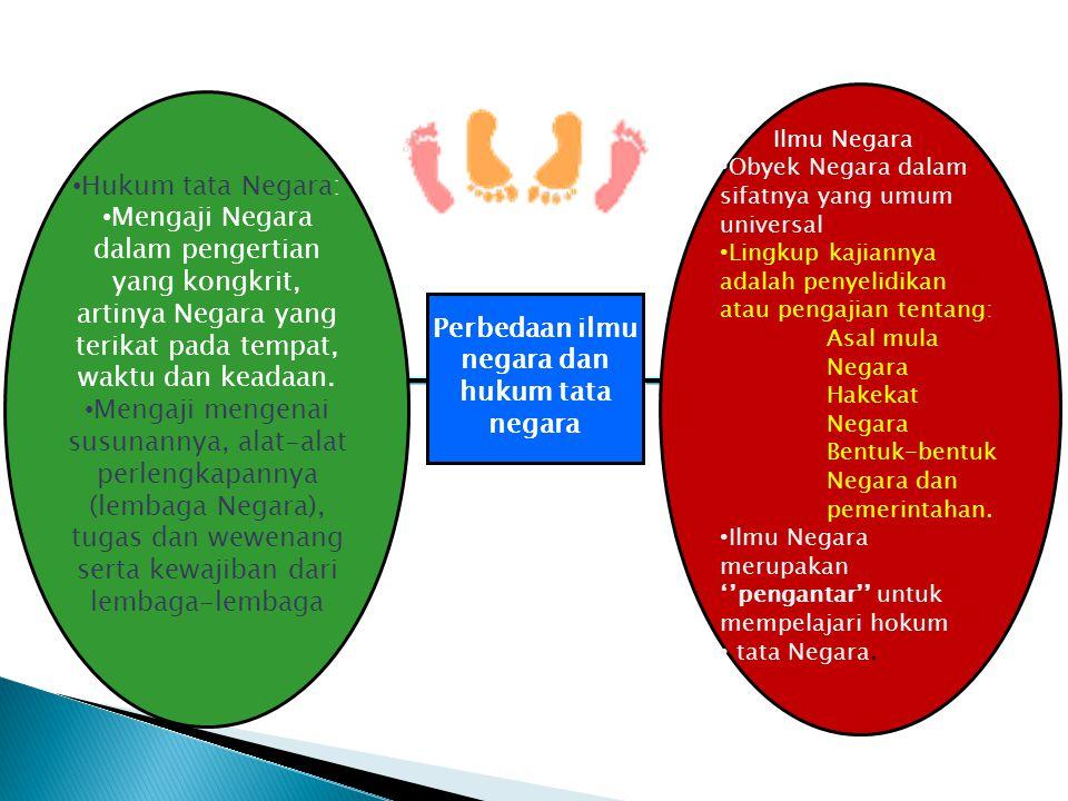 Perbedaan ilmu negara dan hukum tata negara