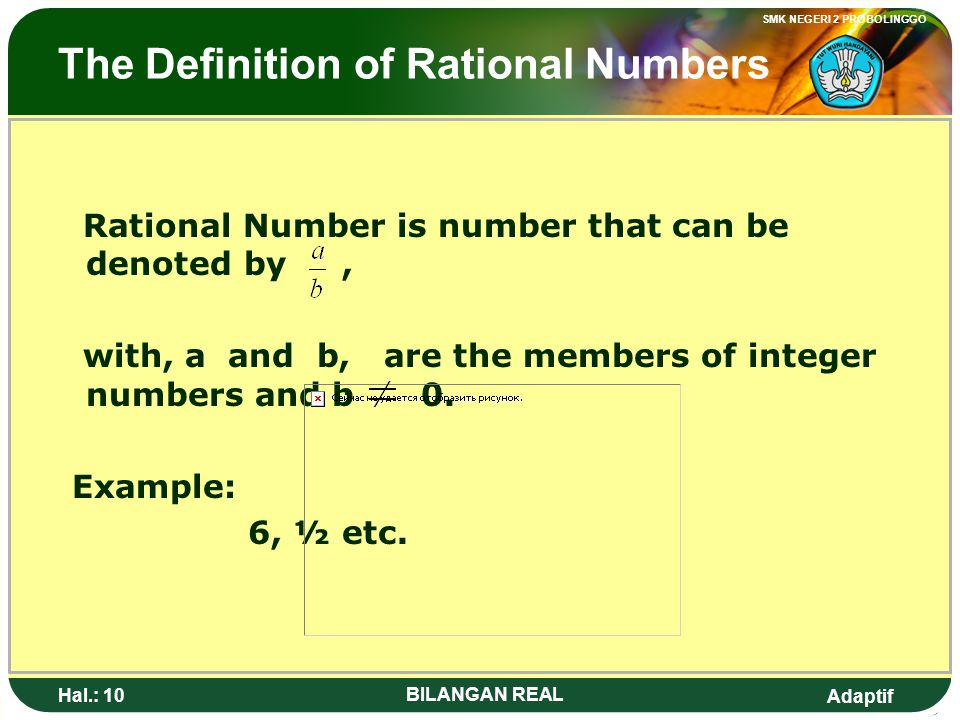 The Definition of Rational Numbers