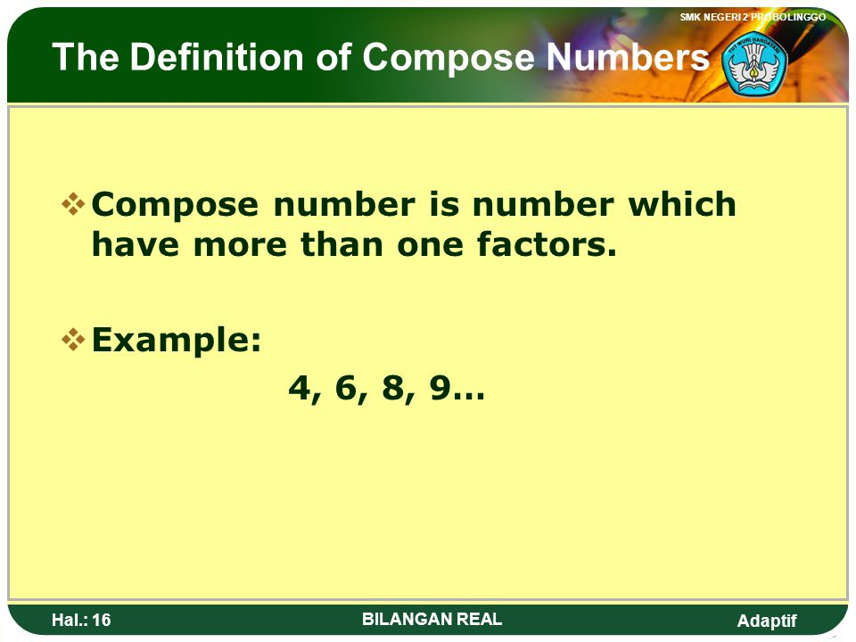 The Definition of Compose Numbers