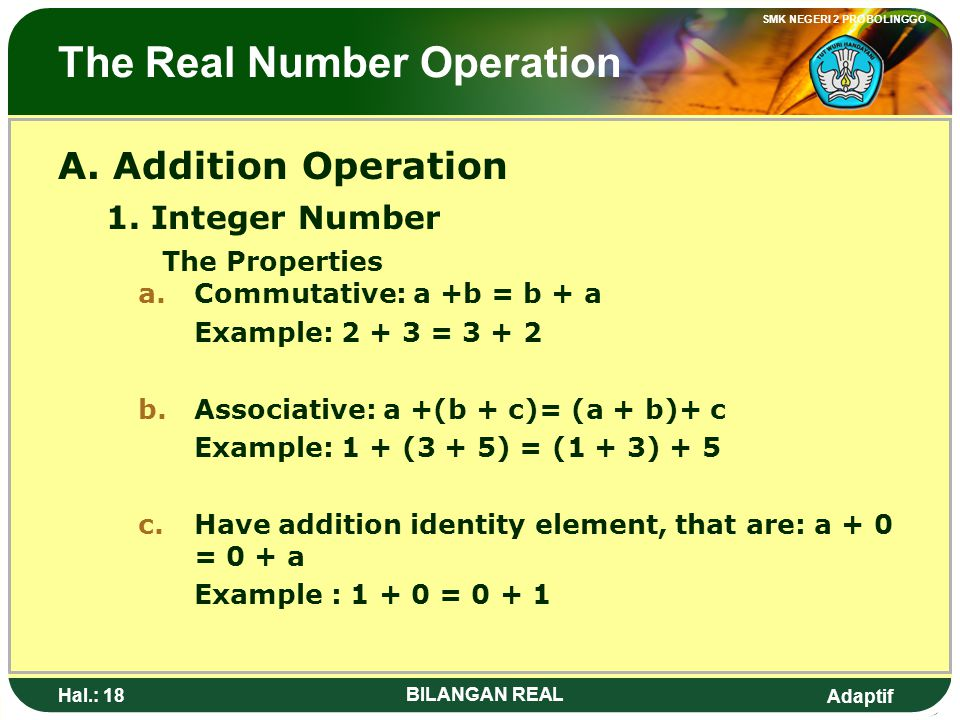 The Real Number Operation