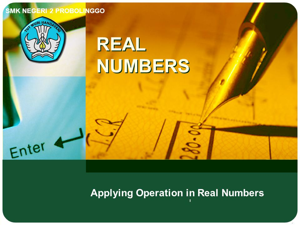 Applying Operation in Real Numbers l
