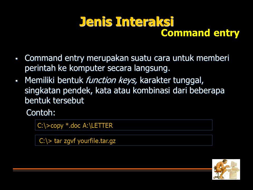 Jenis Interaksi Command entry