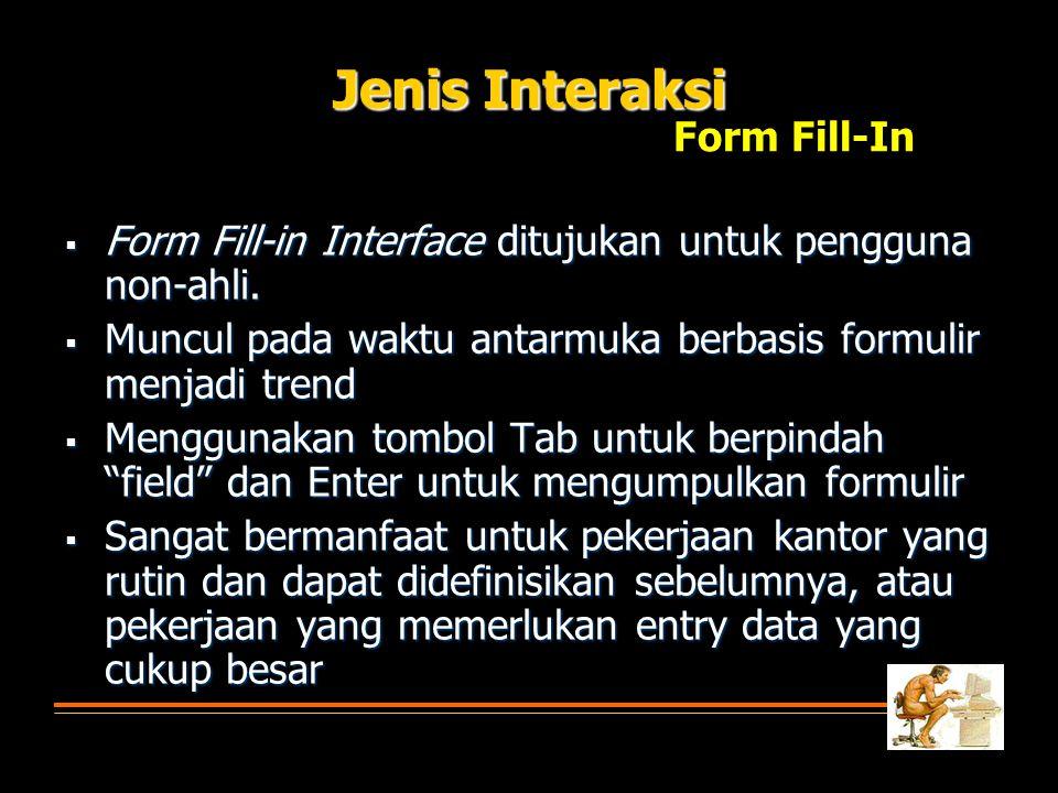 Jenis Interaksi Form Fill-In