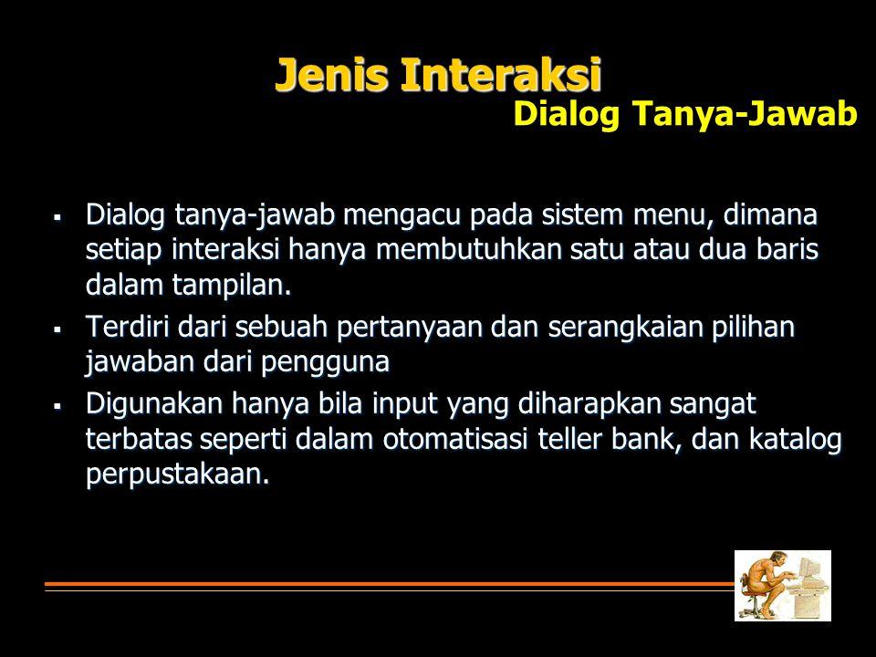 Jenis Interaksi Dialog Tanya-Jawab