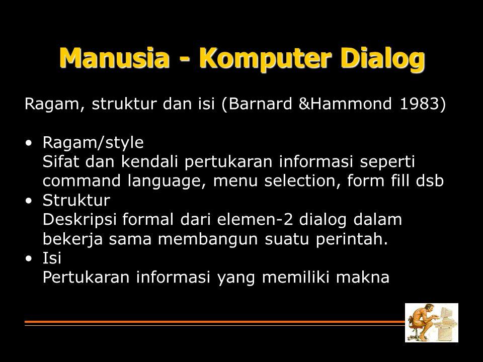 Manusia - Komputer Dialog