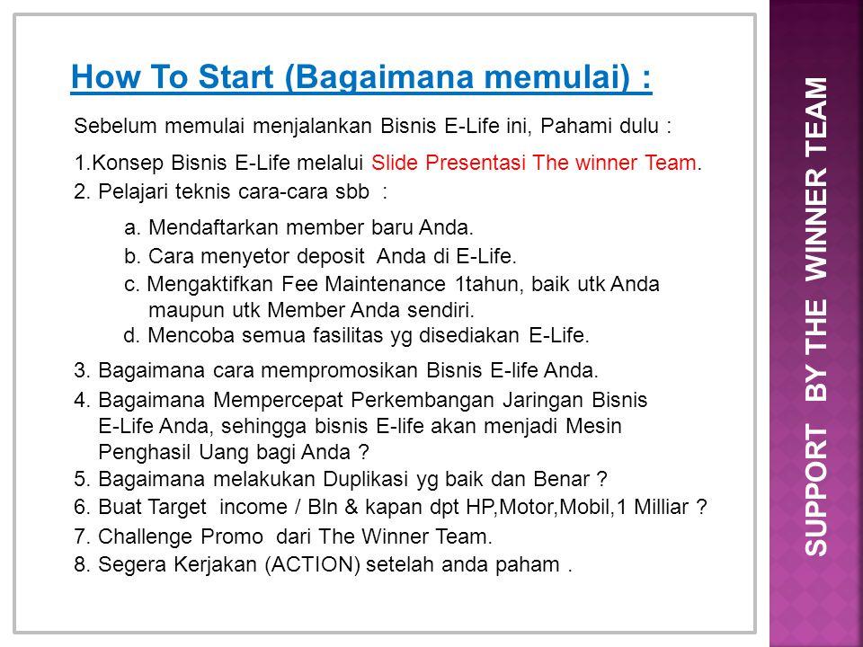 How To Start (Bagaimana memulai) :