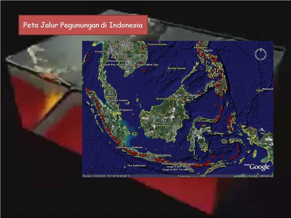 Peta Jalur Pegunungan di Indonesia
