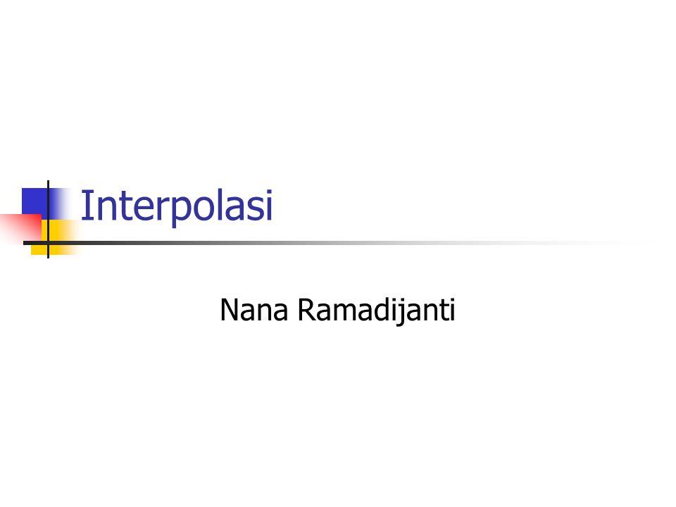 Interpolasi Nana Ramadijanti
