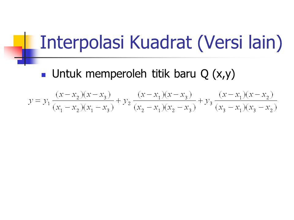 Interpolasi Kuadrat (Versi lain)