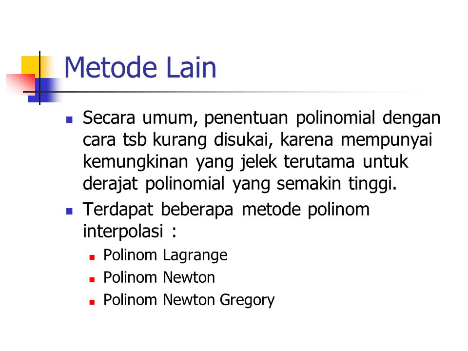 Metode Lain
