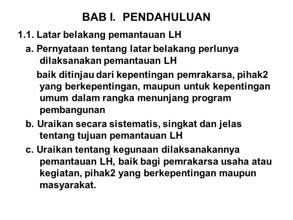 BAB I. PENDAHULUAN 1.1. Latar belakang pemantauan LH