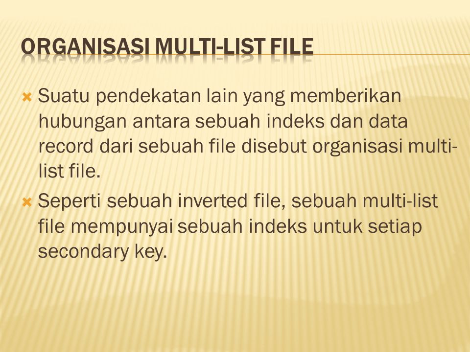 Organisasi Multi-List File