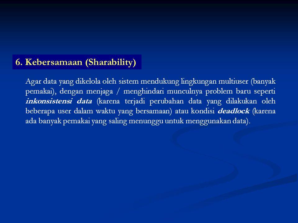 6. Kebersamaan (Sharability)