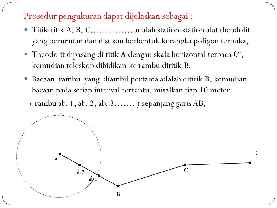 Prosedur pengukuran dapat dijelaskan sebagai :