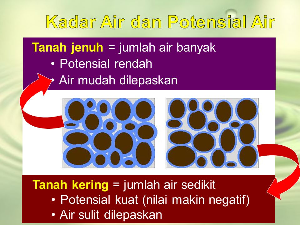Kadar Air dan Potensial Air