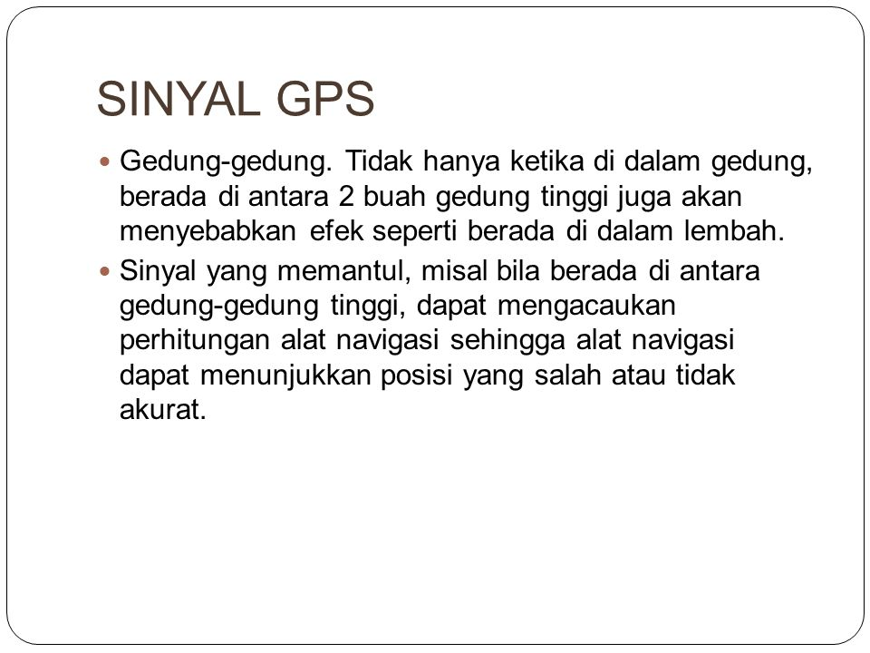 SINYAL GPS
