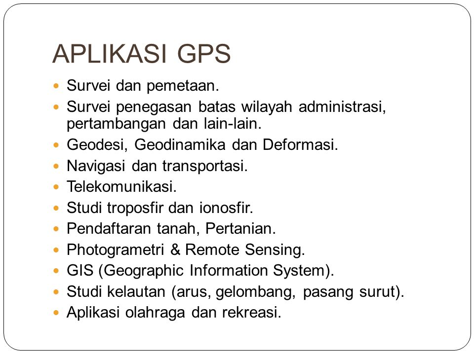 APLIKASI GPS Survei dan pemetaan.